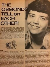 The Osmonds Brothers, Donny Osmond, Full Page Vintage Clipping