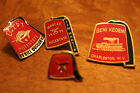 Vintage Shriner Lot of 4 Fez hat enamel pins Egypt Potentate, Moolah, Beni Kedem
