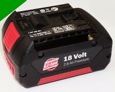 Original Bosch Batería 18V Li 2,6Ah 18 voltios - 2600mAh