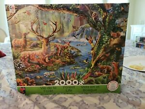 CEACO FOREST LIFE 2000 PIECE JIGSAW PUZZLE, new sealed!