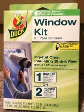 Duck Window Kit Shrink Film - Crystal Clear