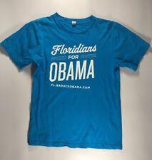 fc85122d6cba Men's Barack Obama Floridians For Obama Campaign T-Shirt Size Medium