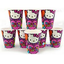 Hello Kitty Cups x 8 Paper Girls Birthday Party Decorations Supplies