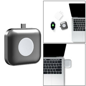 2 In 1 USB-C Watch Charger Charging Dock Station Power Bank for Apple Watch SE 6