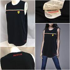 Ferrari Puma Sleeveless Shirt Xl Black Scuderia Cotton Italy Flag Ygi 8135