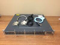 Cisco WS-C3750X-48T-L 48 Port Gigabit Switch 15.2 OS w/ 350W AC (SAME DAY SHIP)