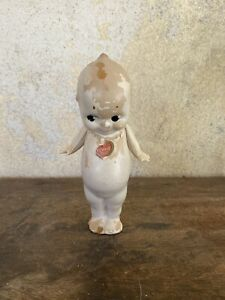 """Antique Composition Rose O'Neill Kewpie Doll Jointed Arms Rare 7"""" Vintage"""