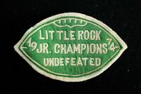 "VINTAGE 1974 LITTLE ROCK UNDEFEATED SCHOOL CHAMPS GREEN AND WHITE PATCH 5"" X 3"""