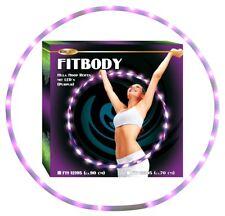 28 LED purpur lila Licht Effekt Hula-Hoop Fitness-Reifen 90 cm leicht 580 g fit