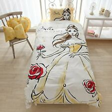 NEW Beauty and the Beast Belle Disney Princess Bed Pillow Watercolor Cover