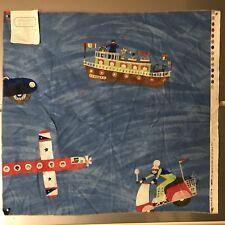 "Osborne & Little 100% cotton fabric sample ""Day Trip"" Pattern 27""x25"" boat"