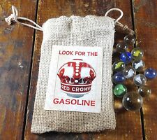 Look for the Red Crown Gasoline Gas Station Advertising Bag of Glass Marbles