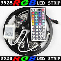 16Ft Multi-Color 3528 SMD RGB 300led 5M Flexible LED Strip Light+44key IR Remote