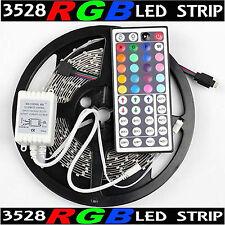 Multi color led car lighting for sale ebay 16ft multi color 3528 smd rgb 300led 5m flexible led strip light44key ir aloadofball Gallery