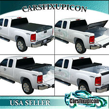 5.5ft 66'' Crew Max Cab Tri-fold Tonneau Cover Short Bed for 07-17 Toyota Tundra