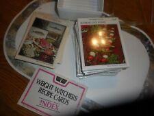 WEIGHT WATCHERS RECIPE CARDS IN INDEX CASE