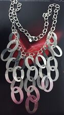 "New Sterling Silver 925 Necklace Made In Itally 22.1 Grams & 18"" Long"