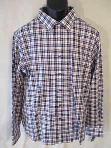 Apt. 9 100% Cotton Black/Purple Plaid Long Slv Point Slim Fit Shirt SR$46-56 NEW