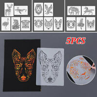 Animal Painting Template Ruler Stencil Drawing Board DIY Album Decoration