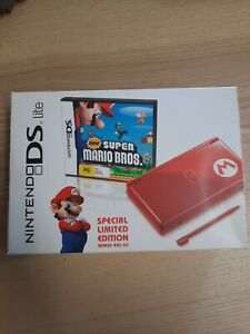 Nintendo DS Lite Red Special Limited Edition AUS w/ New Super Mario Bros Game