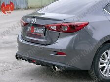 MV-Tuning Rear Diffuser & Exhaust Bends, Mazda 3 / Axela (3rd generation) sedan
