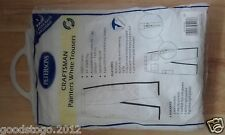 "White Painters Decorators Trousers Workwear FREE KNEE PADS Cotton 44"" Waist"