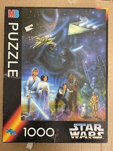 Star Wars 1000 Piece Puzzle Vintage 1994 - *Missing 1 Part*