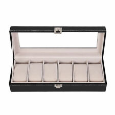 NEUF Boîte à montre boîtier rangement bijoux 6 montres coffre pour montres