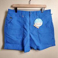 "NWT Columbia PFG Permit II Men's Size 36"" W / 6"" Shorts Quick Dry Vivid Blue"