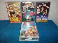 WALLACE & GROMIT x 3 + CHICKEN RUN (AARDMAN ANIMATIONS) - VHS PAL (UK) VIDEO's