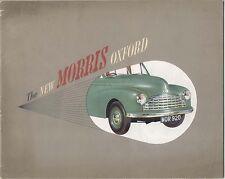 Morris Oxford MO Saloon 1948-49 Original UK Market Sales Brochure Pub. No. 26/4
