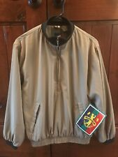 NWT SUNICE Men's Golf Pullover Jacket 1/2 Zip Polyester Windbreaker Khaki Sz XS