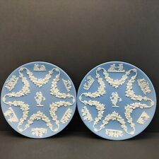 "New ListingLot Of 2 Wedgwood Collectors Society Blue Jasperware 6.5"" Plates -Nice!"