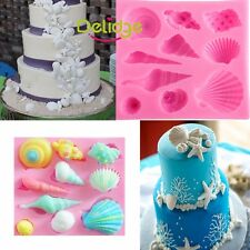 Conch Shell Silicone Cake Decorating Mould Fondant Sugarcraft Chocolate Mold DIY