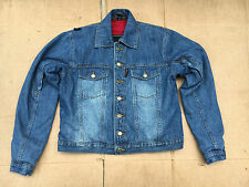 "RED ROUTE Ladies Denim Motorbike Motorcycle Jacket Size UK 12   36"" Chest  L4"