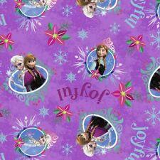 DISNEY FROZEN SISTERS MERRY & JOYFUL 100% Cotton Fabric by the yard