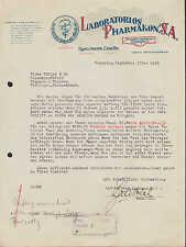 Ramos Arizpe enCoahuila méxico, factura 1929, laboratorios producto se administre s.a. manufac