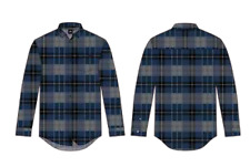Camisa - RUSTY - Talla/Size M - RENOWNED LONG SLEEVE FLANNEL SHIRT - NAVY BLUE