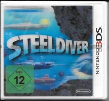Nintendo 3 DS 'Steel Diver' NOUVEAU/Neuf dans sa boîte avec 3d cover
