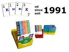 Bridge Bidding box 100% plastic 1 komplet/set/satz 4 boxes 3 kolory/colors/farbe