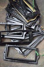 18 Reclaimed Vintage Drawer Label Holders knobs handles pulls industrial frame