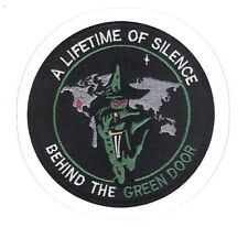 BEHIND THE GREEN DOOR STICKER  Classified U.S. Mission USA Black Project