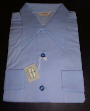 NOS PILGRIM 50's Blue Long Sleeves Flap Pockets! Camp Loop Collar! ROCKABILLY ML