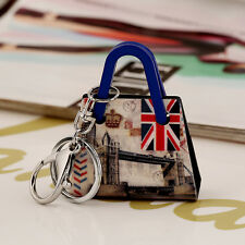 Cute Girl Handbag England style Pendant Charm Key Chain Ring Keyring