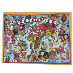 """1000 Piece Puzzle """"Around The World"""" 2009 White Mountain - People And Places"""