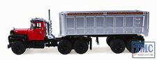 60-0246 First Gear 1:64 SCALE Mack R Model Red & Silver 22' End Dump Trailer