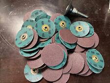 100 Disc Lot 3m Roloc Abrasive Sanding Die Grinder Discs 2 100 Grit With Mandrel