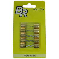 Lot of 5 Pcs Pack 100A AGU Fuses 100 AMP Gold Plated High Quality Home Car Audio