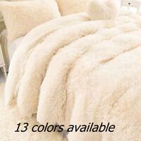 Soft Shaggy Faux Fur Blanket/Throw Ultra Plush Decorative Blanket Keep Warm