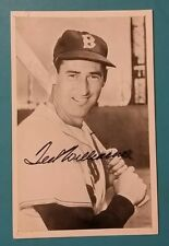 TED WILLIAMS VINTAGE B&W 4X6 AUTOGRAPH PHOTO